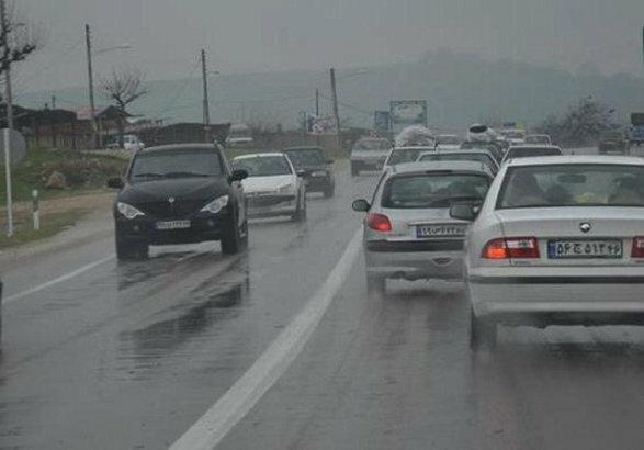بارندگی در اکثر محورهای کهگیلویه و بویراحمد ، همه جاده ها باز هستند