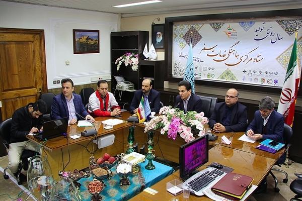 ارتباط ویدئو کنفرانسی دبیر ستاد مرکزی هماهنگی خدمات سفر با استان های مختلف برگزار شد