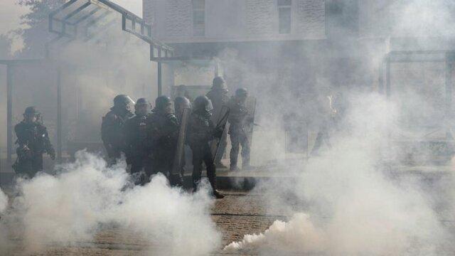 درگیری پلیس با جلیقه زردها در شهر نانت فرانسه