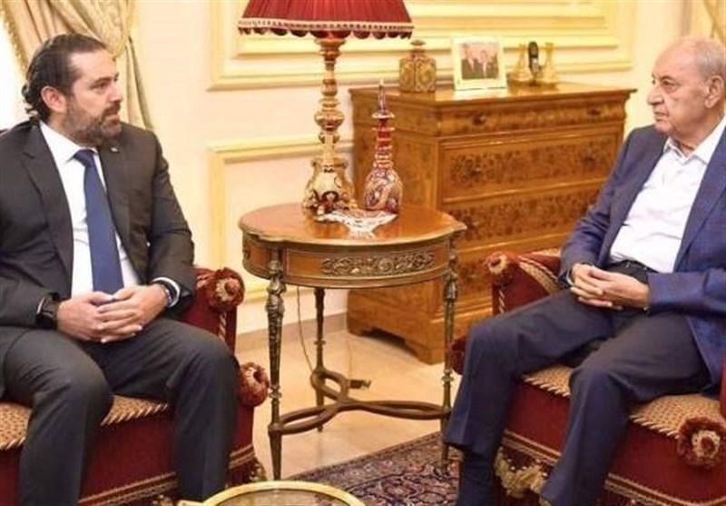 حریری در گفت وگو با بری استعفای دولت لبنان را غیرقابل قبول خواند