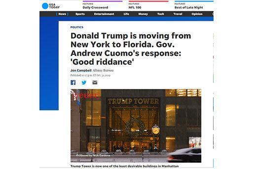 ترامپ مجبور به ترک نیویورک شد ، فرار مالیاتی آقای رئیس جمهور