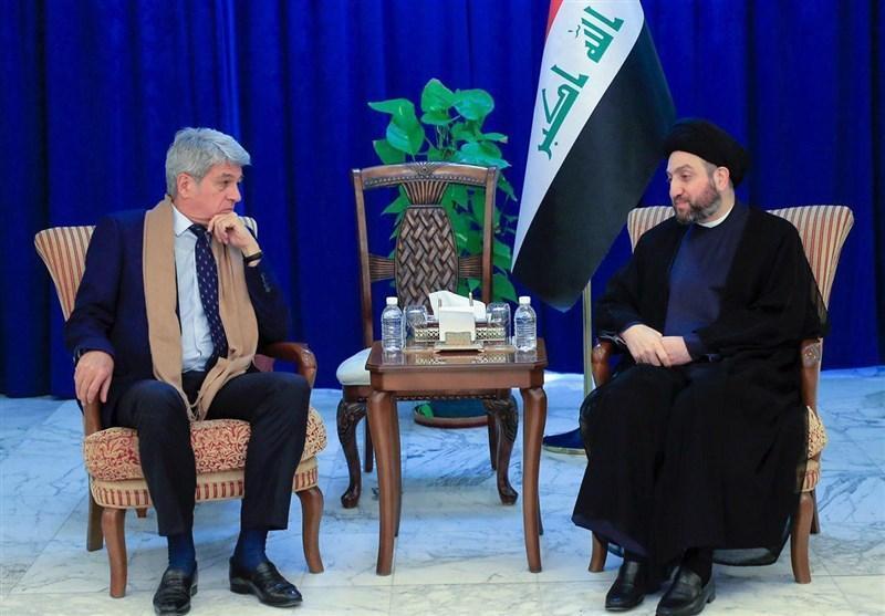 حکیم در ملاقات با سفیر فرانسه: دولت آینده عراق، دولتی موقت خواهد بود
