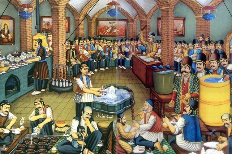 میز قهوه خوری سرامیکی قاجار بازسازی شد