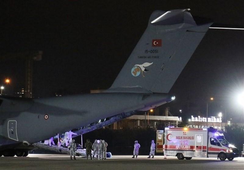 بازگشت شهروندان ترکیه از چین با آمبولانس هواپیمای نظامی