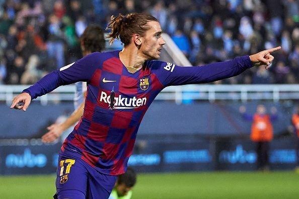 رئال مادرید در یک هشتم نهایی کوپا، گریزمان ناجی بارسا شد