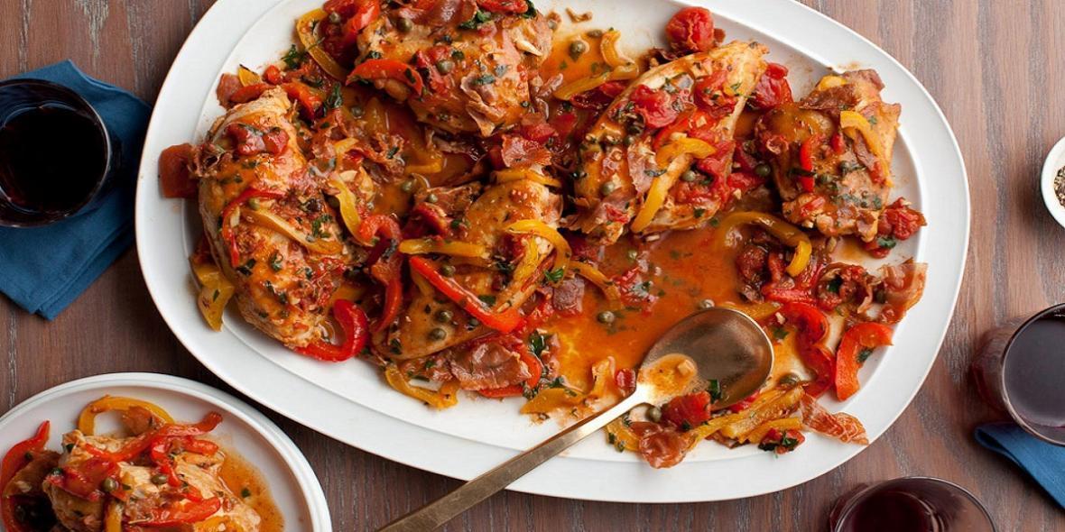 خوراک مرغ مخصوص ایتالیایی