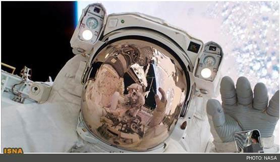 تصاویر جالب از پیاده روی فضایی فضانوردان